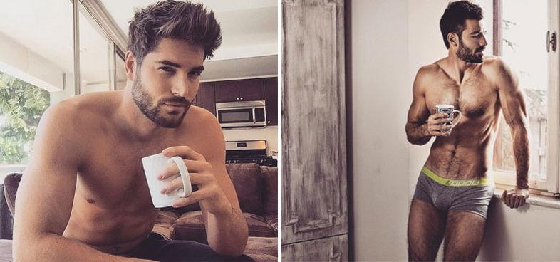 Instagram busca hombres guapos tomando café