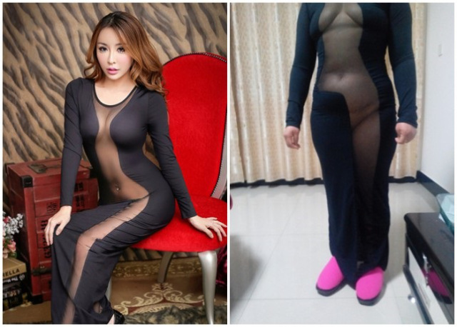 Denuncia que el vestido no le queda como a la modelo