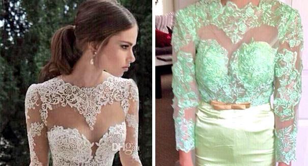 Vestidos de boda que resultaron no se lo que parecían