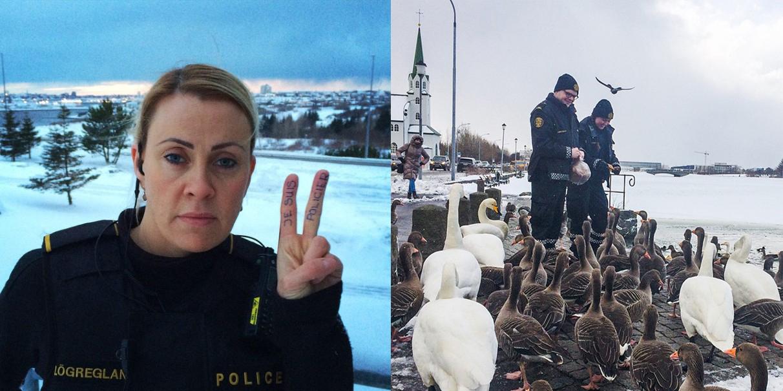 Su Instagram lo deja claro: ¡la policía de Reykjavik mola mucho!