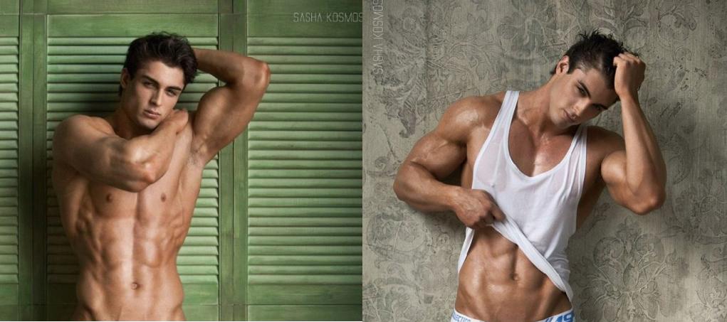 El modelo David Lurs desnudo