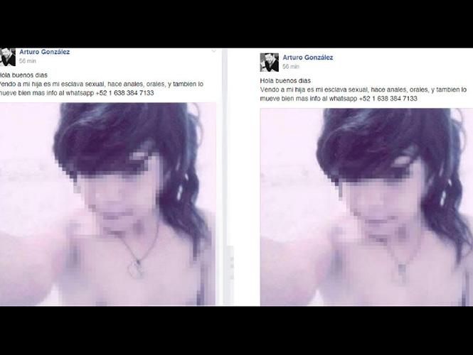 Ofrece a su hija de 9 años en Facebook como esclava sexual