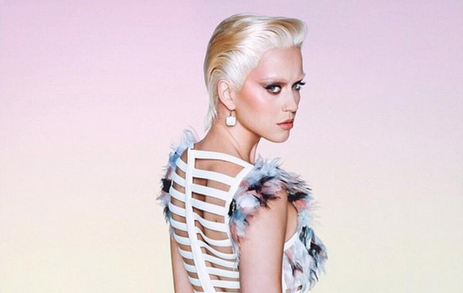 Katy Perry irreconocible en la portada de Wonderland