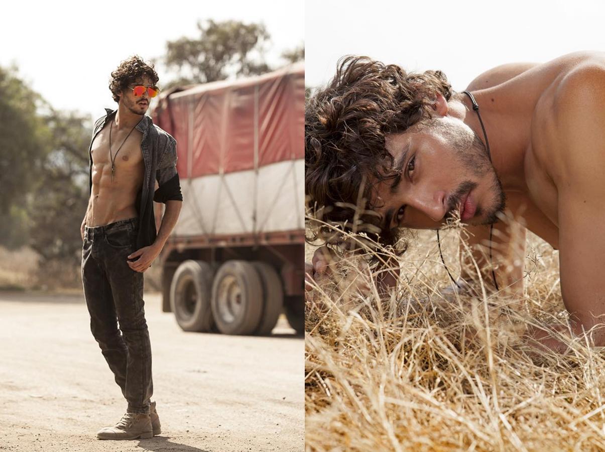 El modelo Marcos Miranda desnudo