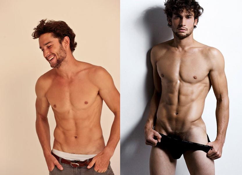 El modelo Matt Giesler desnudo