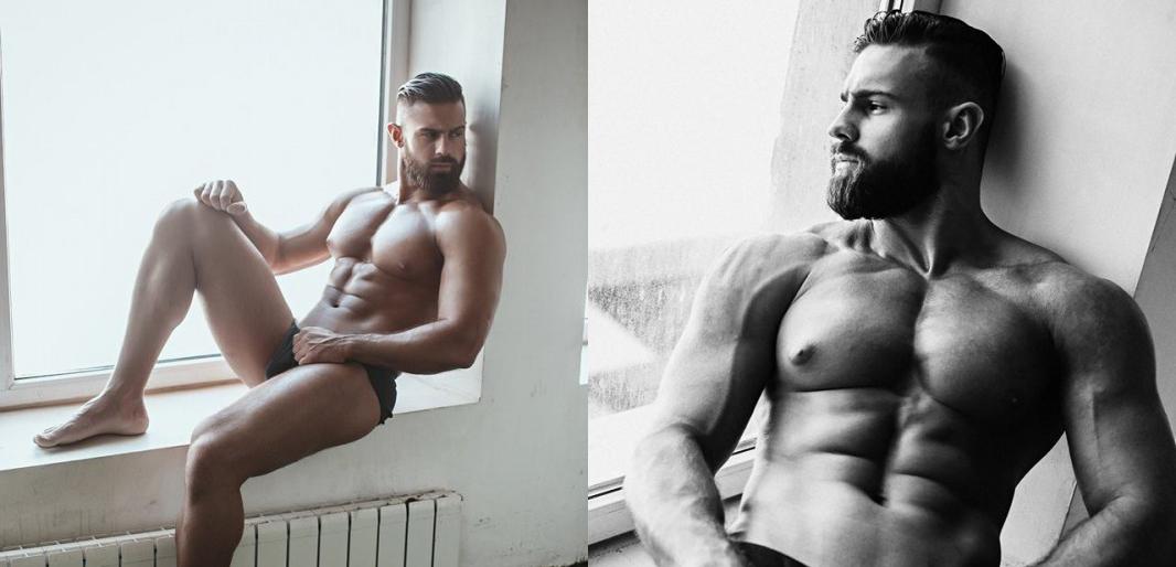 Konstantin Kamynin desnudo