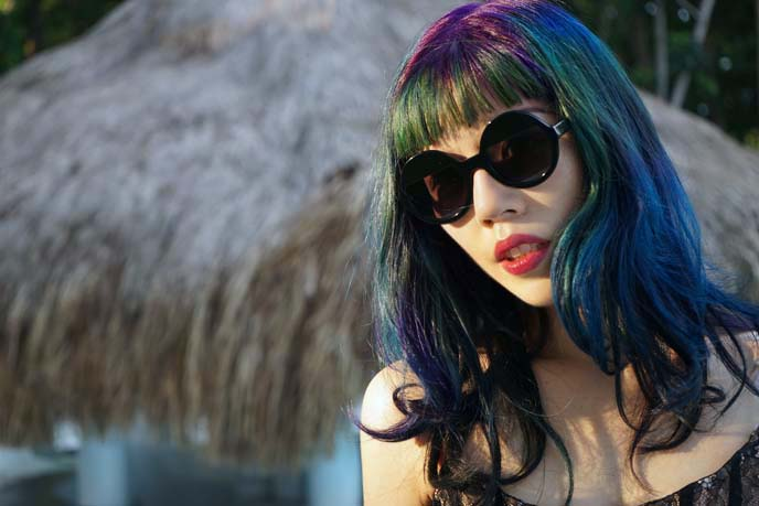 oil slick pelo de colores