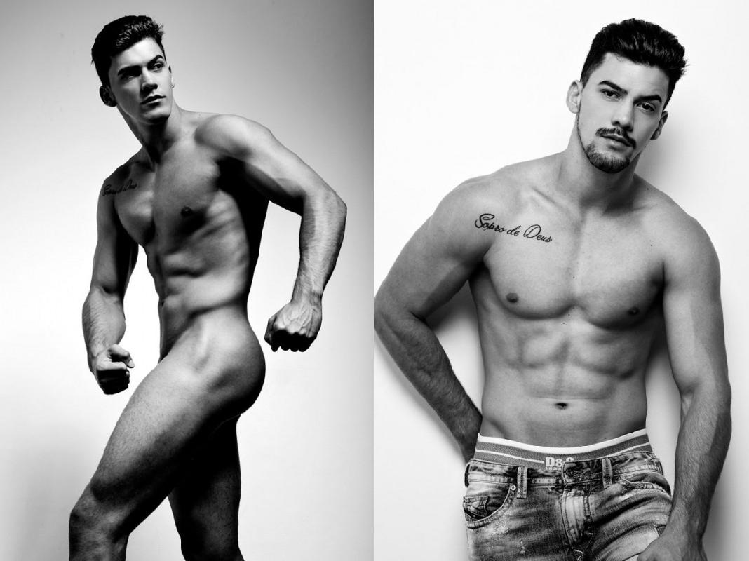 El brasileño Bruno Garessw desnudo