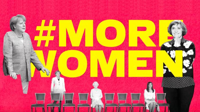 Esta campaña borra a los hombres con Photoshop para reclamar más mujeres en el poder