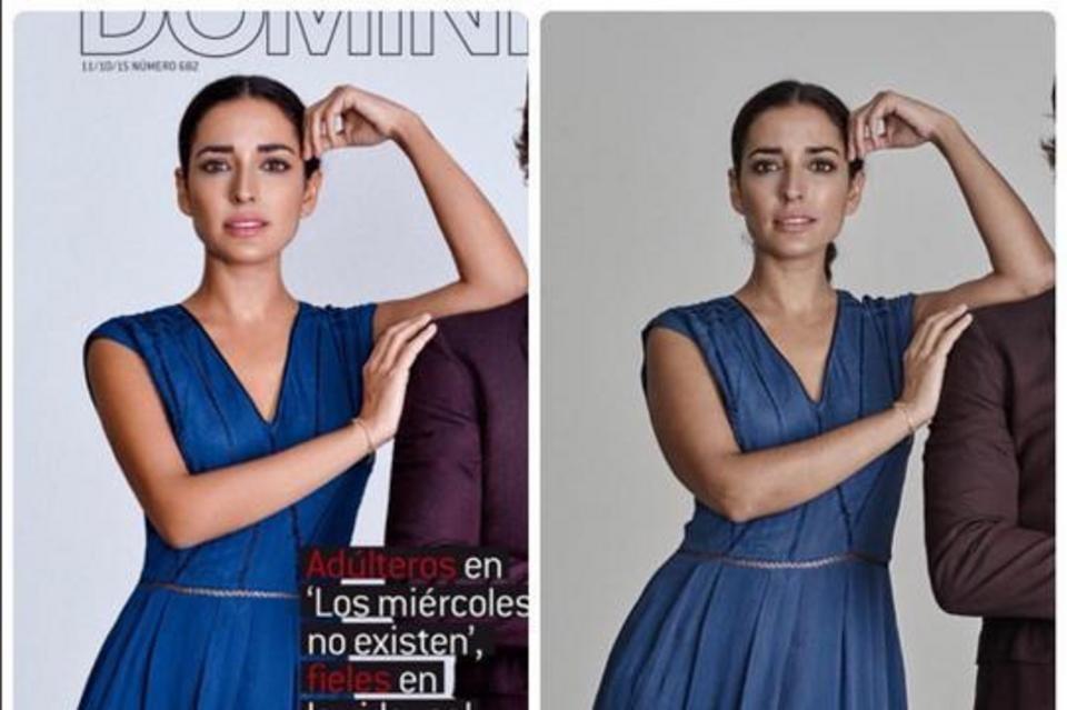 Inma Cuesta indignada al ver cómo han retocado su foto para esta portada