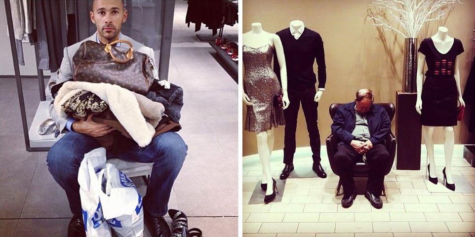 20 hombres que se arrepintieron de ir de compras con sus mujeres