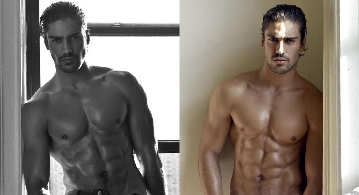 El modelo Ignacio Ondategui desnudo
