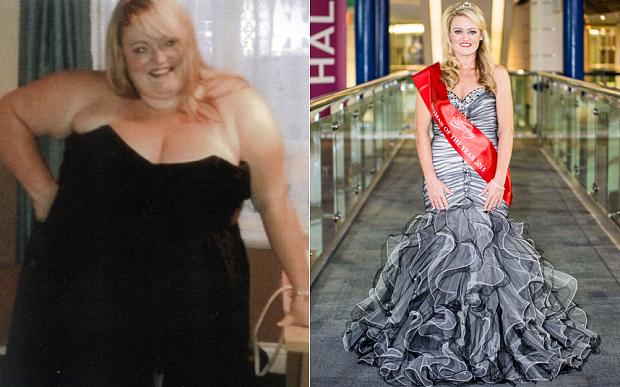 Recibe el premio a la mujer que más peso a perdido en 2015