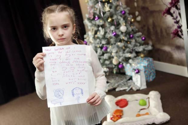 La desgarradora carta de esta niña a Papa Noel