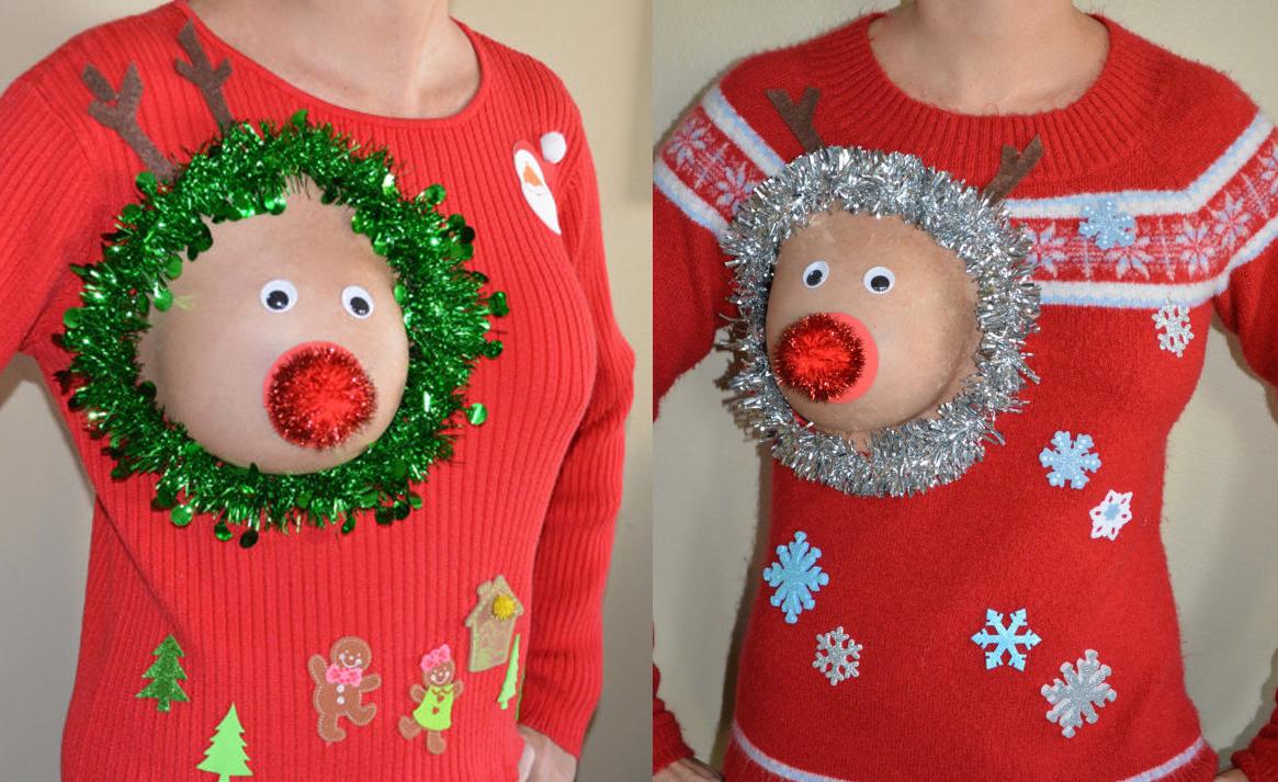 Jerseys navideños enseñando teta: ¿la peor moda de esta Navidad?