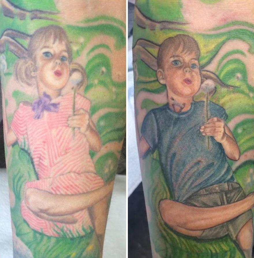 Esta Madre Modificó Su Tatuaje Para Apoyar A Su Hijo Transexual