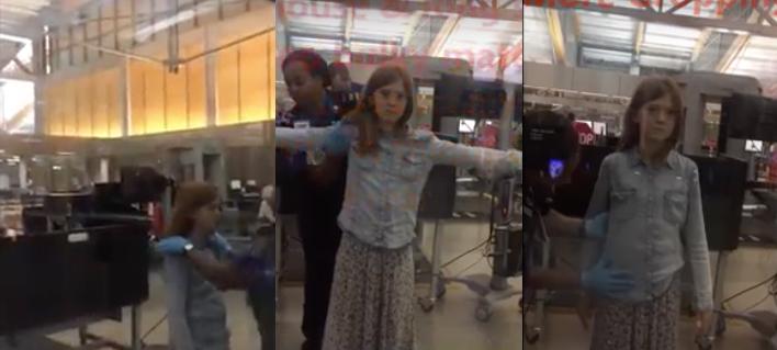 El cacheo a esta niña en un aeropuerto está indignando a todo el mundo