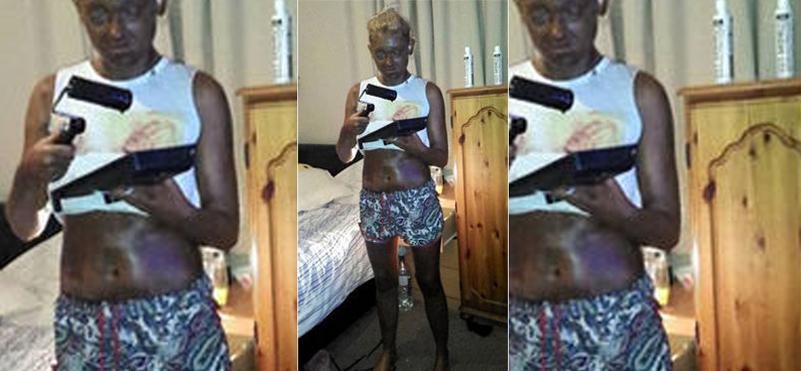 Siguió un tutorial de belleza y acabó pintada de negro
