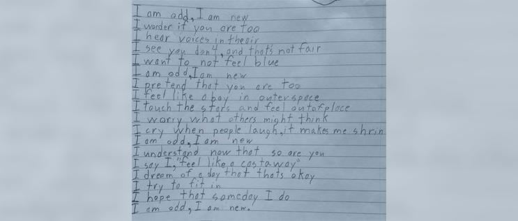 Este poema escrito por un niño con Asperger está conmoviendo al mundo