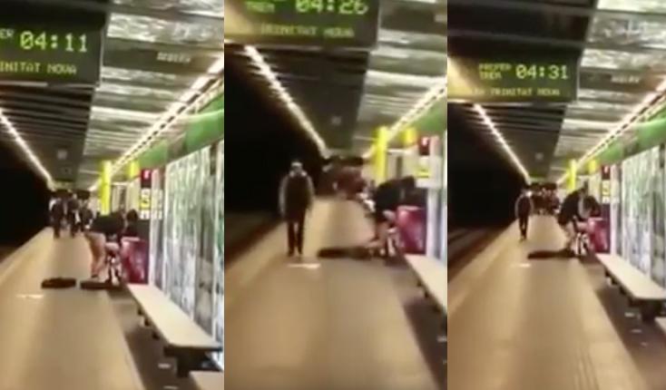¿Es real el vídeo viral de la pareja teniendo sexo en el metro de Barcelona?