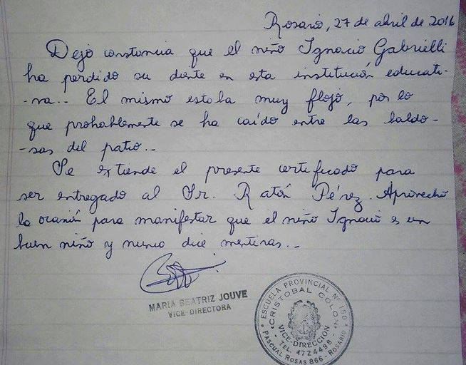 La carta de esta profesora al Ratoncito Pérez ha conmovido a las redes