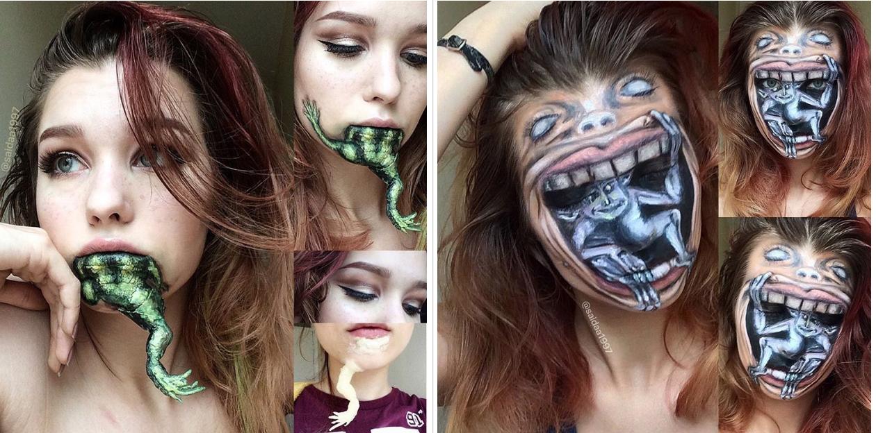 Lo que hace esta artista del maquillaje te pondrá los vellos de punta