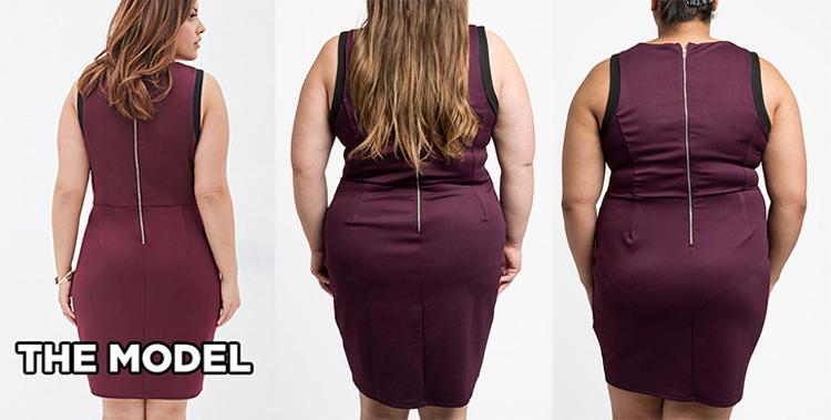 Modelos de talla grande Vs. Mujeres de talla grande: así les queda la ropa