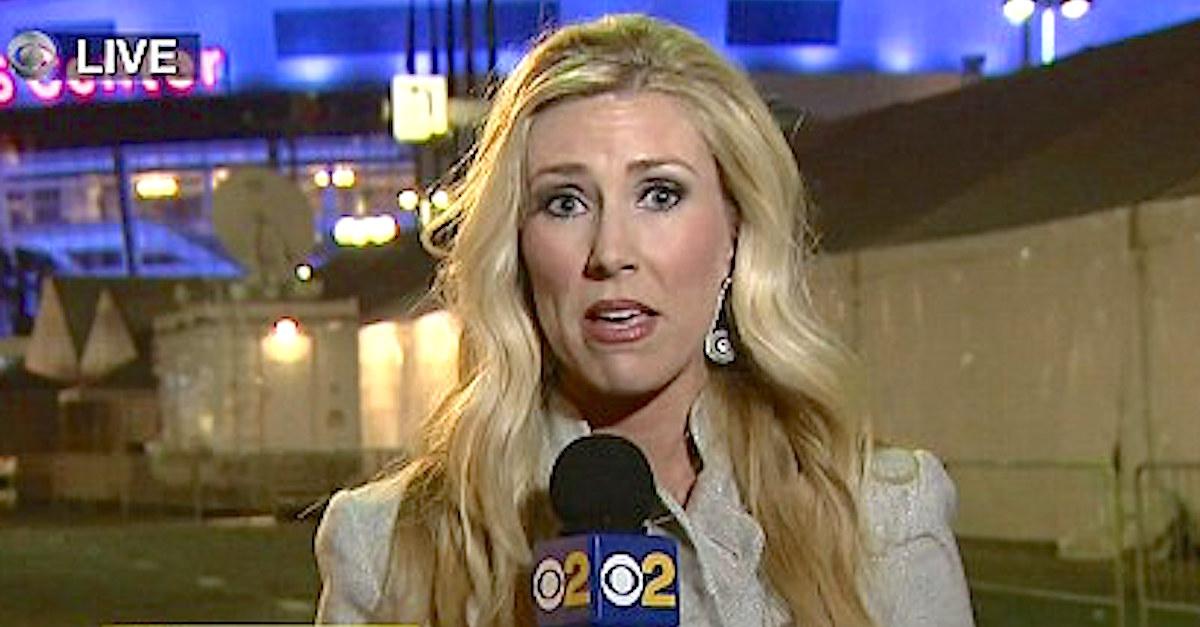 Esta presentadora se comporta de forma extraña en directo y su vídeo se hace viral
