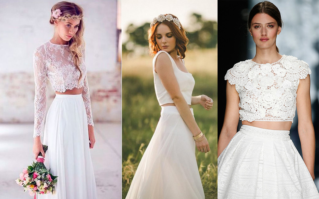Vestidos de novia de dos piezas: cuando la moda nupcial se vuelve sexy