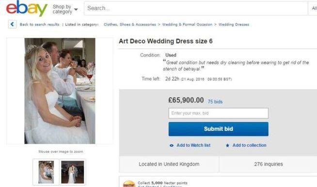 Vende su vestido de novia para pagar el divorcio y el anuncio da la vuelta al mundo