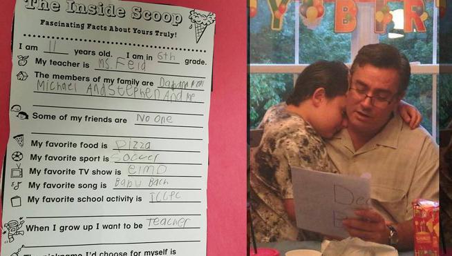 Descubre que su hijo autista no tiene amigos y escribe esta desgarradora carta