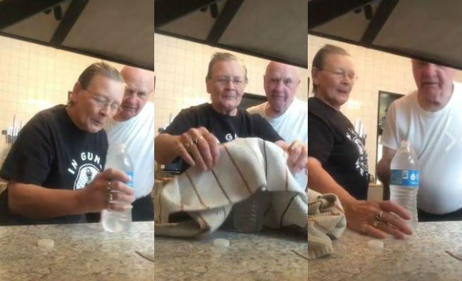 pareja broma abuelos