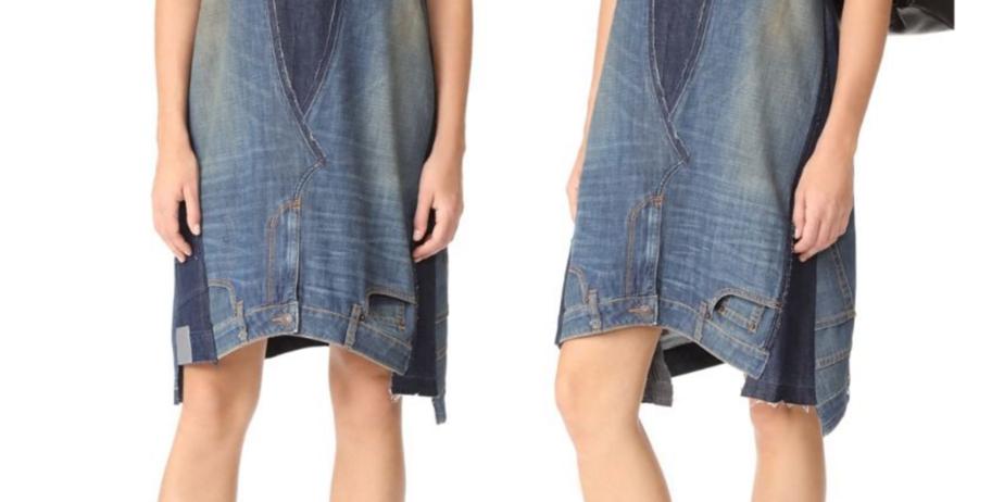 Este vestido creado con dos pantalones vale 400€ y ya es viral