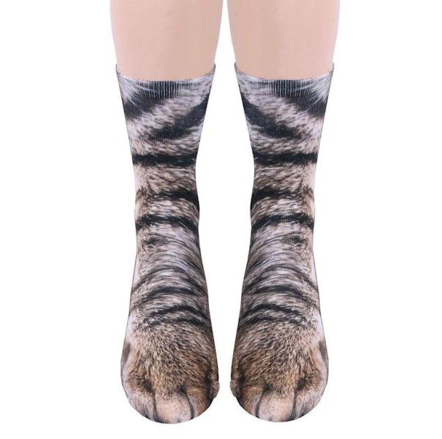 calcetín de gato