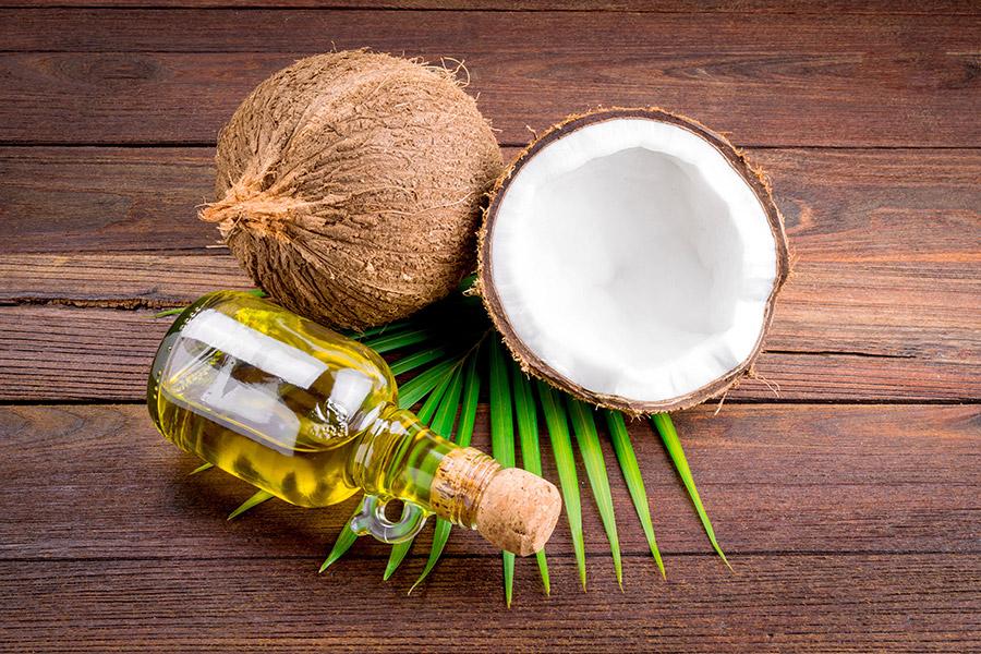 aceite de coco pestañas