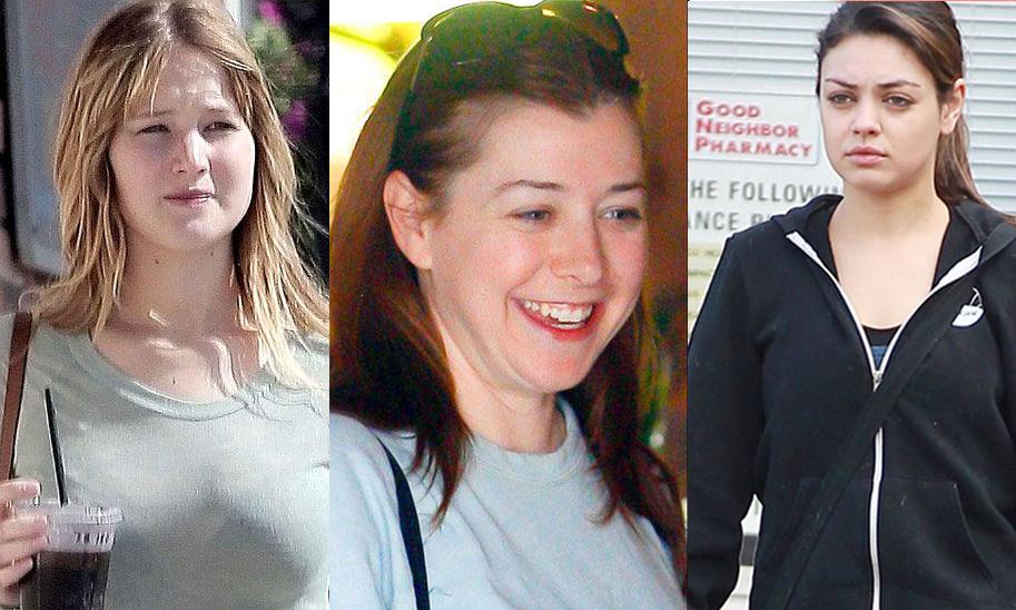 10 actrices sin maquillaje que te costará reconocer