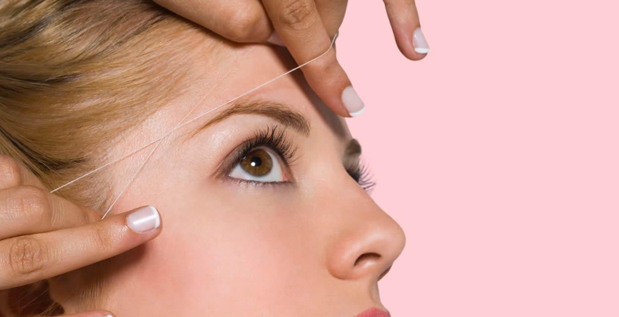 Cómo depilar las cejas con hilo paso a paso