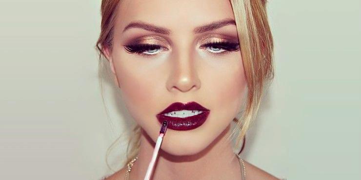 como pintar labios