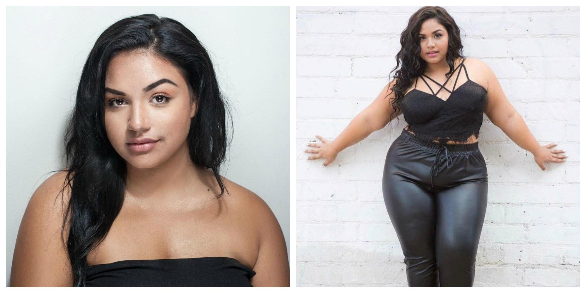 Modelo de tallas grandes posa como Kim Kardashian