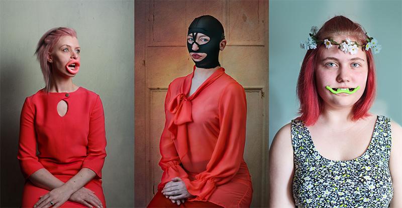 Esta artista ha fotografiado a mujeres llevando artilugios de belleza imposibles
