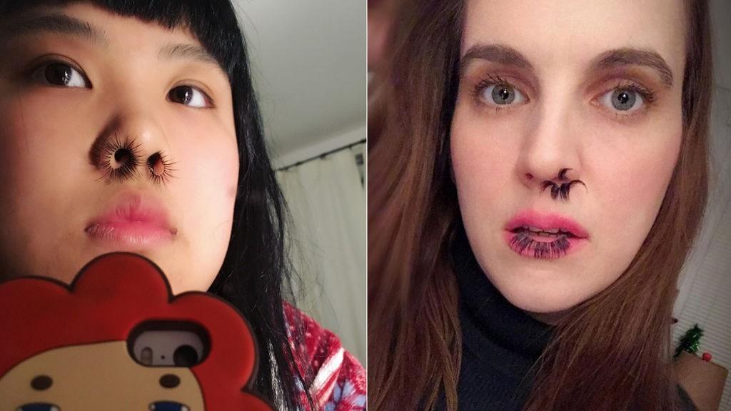 La horrible moda de llevar las pestañas postizas en la nariz
