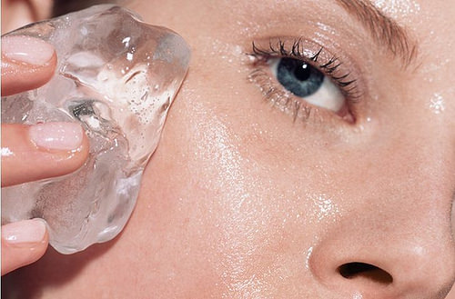 hielo para el rostro