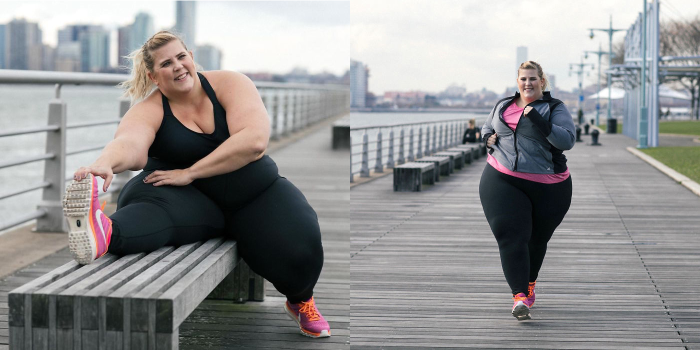 mujer obesa imagen firma deportiva