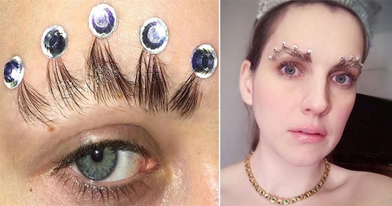 """La """"corona de cejas"""", la tendencia más extraña del año"""