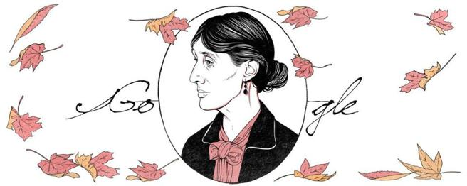 Google dedica su doodle de hoy a Virginia Woolf