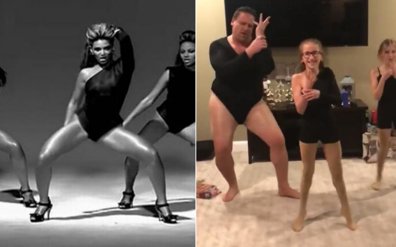 Este padre se aprendió la coreografía de 'All the single ladies' para bailar con sus hijas