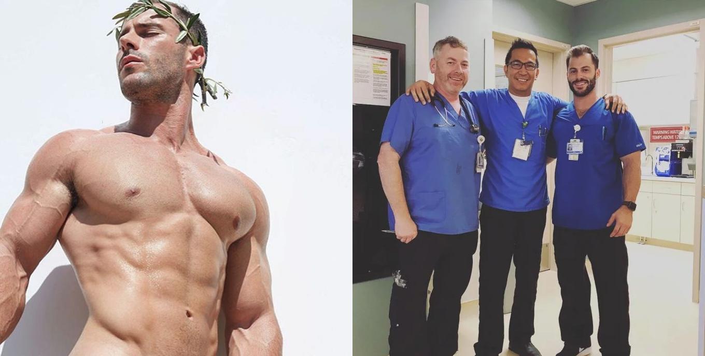 Este enfermero sexy tiene revolucionados a sus pacientes y a Instagram