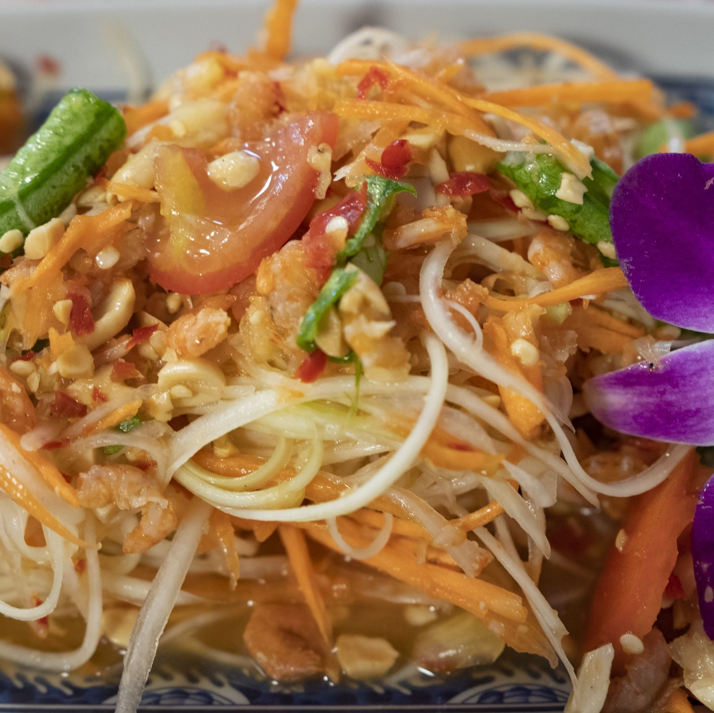 Traditional Thai Food, Thai cuisine, Papaya Salad, Som Tum