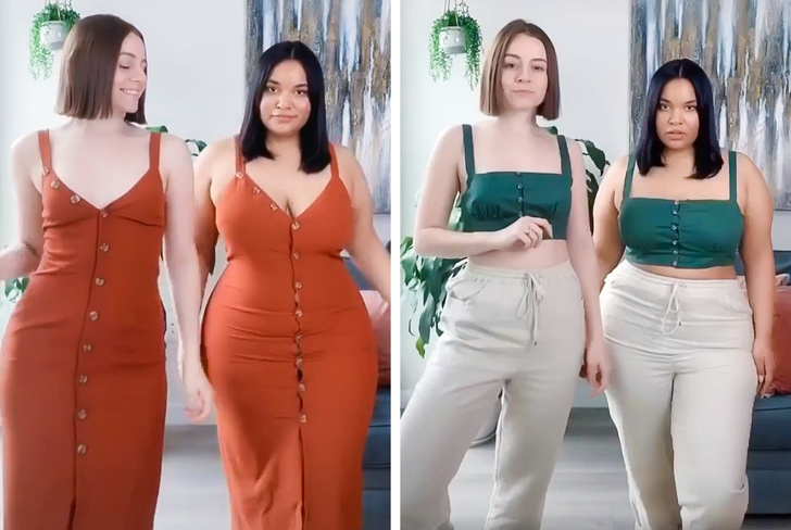 2 Friends Showed How the Same Outfits Look on Women With Different Body Types