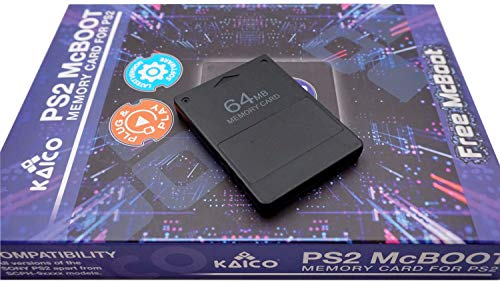 Kaico Free Mcboot 64MB PS2 Memory Card Running FMCB PS2 Mcboot 1.966 for Sony Playstation 2 - FMCB Free Mcboot Your PS2 - Plug and Play - Playstation 2 CFW McBoot 1.966